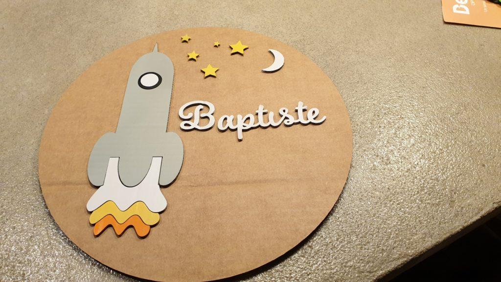 Le cercle baptise sur le thème de la fusée