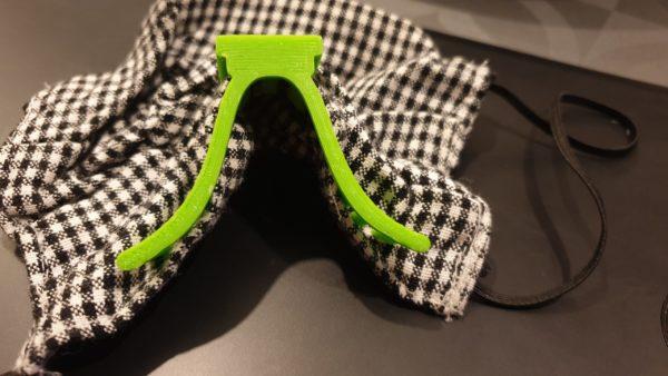 Masque à lunette - En place