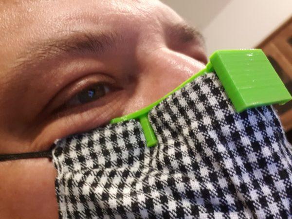 Masque à lunette - Sur le visage