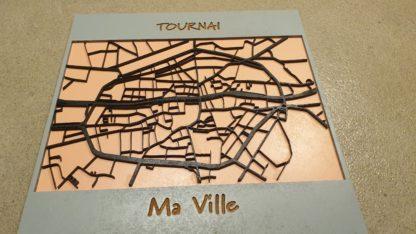 Plan de la ville de Tournai