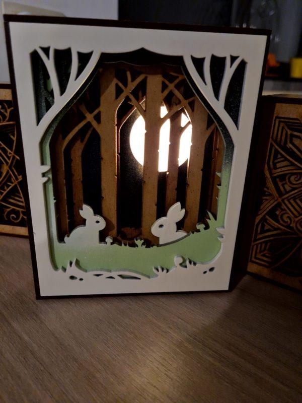 La lightbox Bunny in the wood